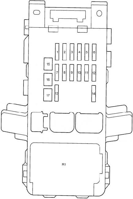 Toyota Corolla Mk9 9th Generation 2005 Fuse Box Diagram