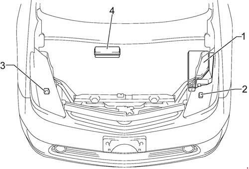 '03-'09 Toyota Prius (XW20) Fuse Diagram