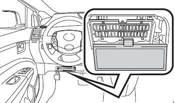 2003-2009 Toyota Prius (XW20) Fuse Box Diagram » Fuse Diagram