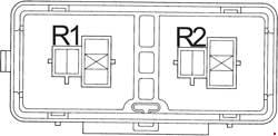 '96-'02 Toyota Land Cruiser Prado (J90) Fuse Diagram