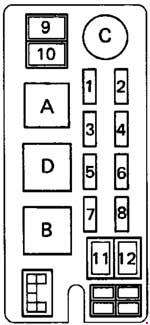 1993 Toyota Hilux, T100, Pickup Fuse Box Diagram » Fuse