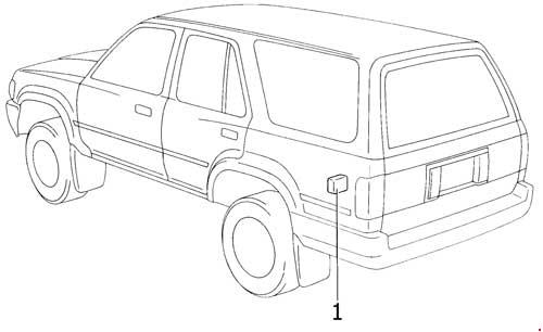 '89-'95 Toyota 4Runner Fuse Box Diagram