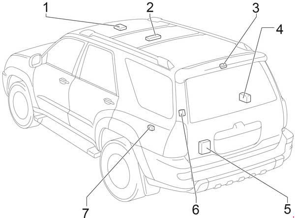 '02-'09 Toyota 4Runner Fuse Diagram