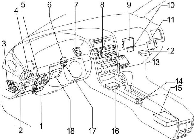 1991-1997 Lexus GS 300 (S140) Fuse Box Diagram » Fuse Diagram