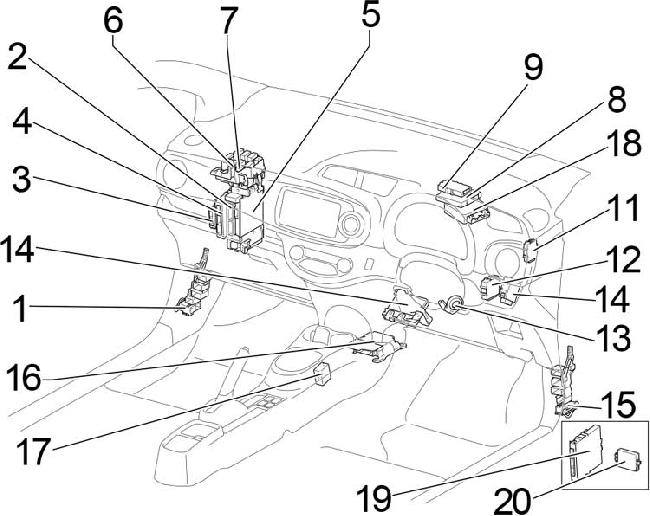'10-'17 Toyota Yaris (130) Fuse Diagram