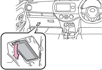'10-'17 Toyota Yaris (130) Fuse Diagram