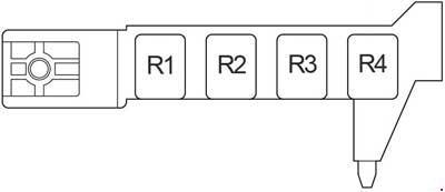 2003-2009 Toyota Avensis (T250) Fuse Box Diagram » Fuse