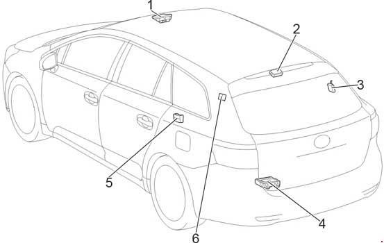 '09-'18 Toyota Avensis (T270) Fuse Diagram