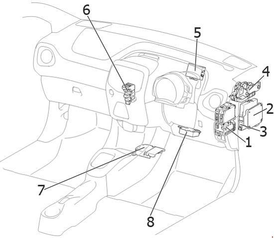 '14-'18 Toyota Aygo Fuse Diagram