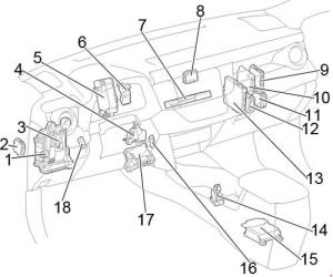 20132017 Toyota RAV4 (XA40) Fuse Box Diagram » Fuse Diagram