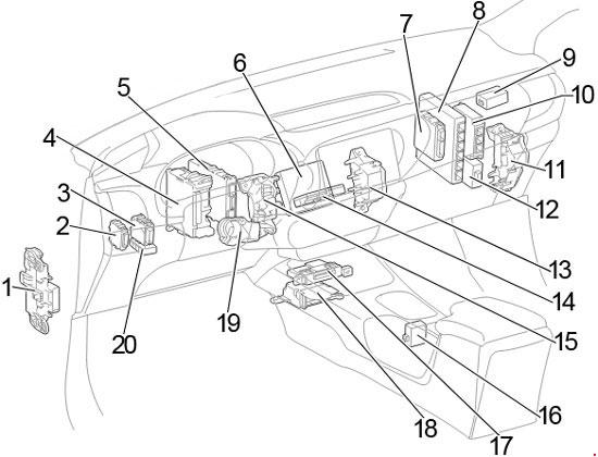 toyota hilux fuse box  wiring diagrams options response