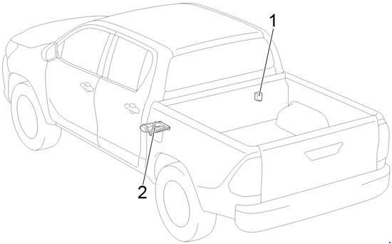 '15-'19 Toyota Hilux Fuse Diagram