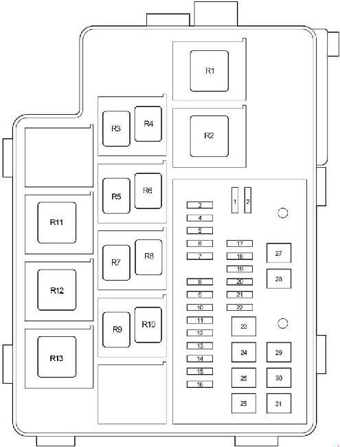 2006-2012 Toyota RAV4 (XA30) Fuse Box Diagram » Fuse Diagram