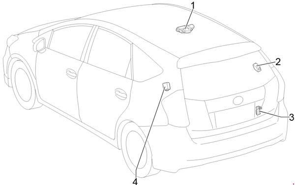 2011-2018 Toyota Prius v and Prius+ (ZVW40) Fuse Box