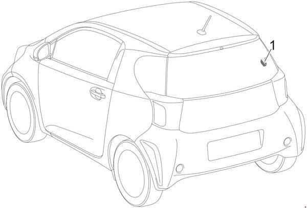 2008-2015 Toyota iQ Fuse Box Diagram » Fuse Diagram