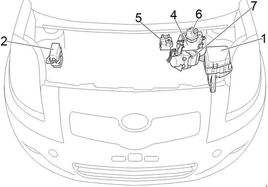 '05-'12 Toyota Yaris and Vitz Fuse Diagram