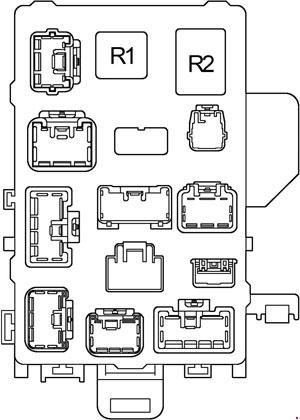 '96-'02 Toyota 4Runner Fuse Box Diagram