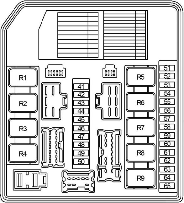 '04-'13 Nissan Note Fuse Box Diagram