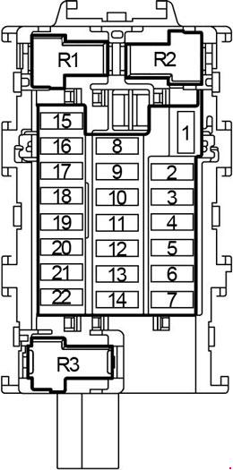 2013-2018 Nissan Versa Note Fuse Box Diagram » Fuse Diagram
