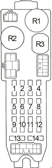 ae86 stereo wiring diagram for a 4 way light switch saima soomro fuse box 1983 1987 toyota corolla diagrampassenger compartment