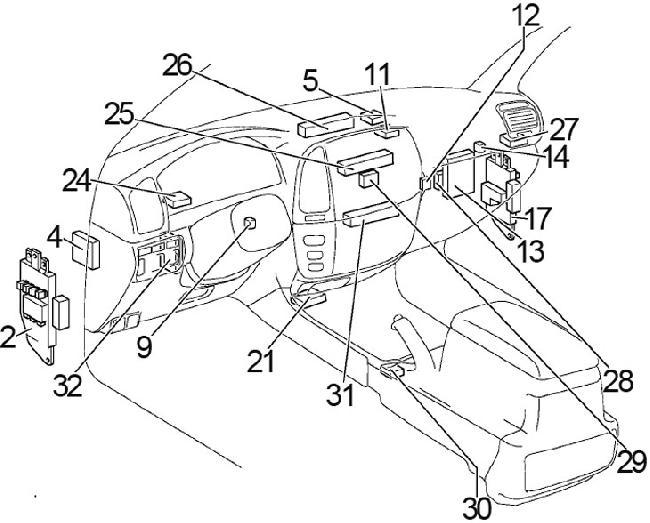 1998 toyota land cruiser engine diagram