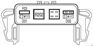 '05-'08 Lincoln Mark LT Fuse Box Diagram