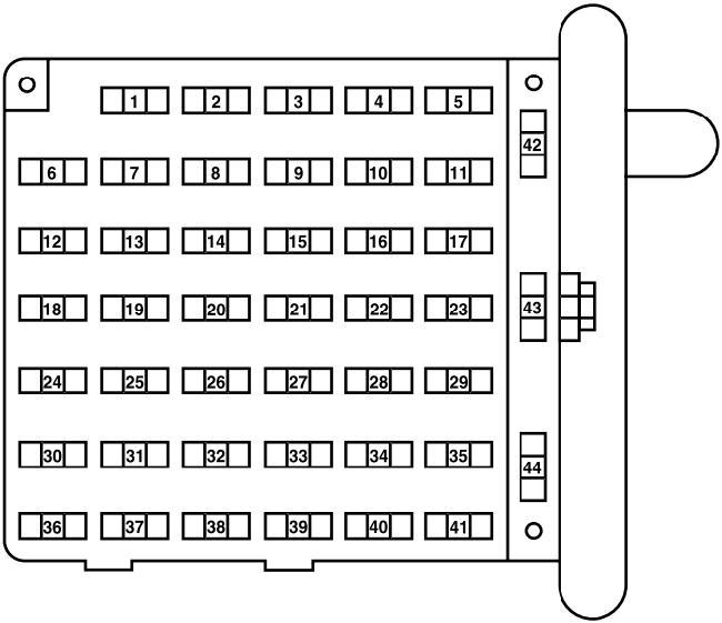 98 ford econoline fuse box  description wiring diagrams sit