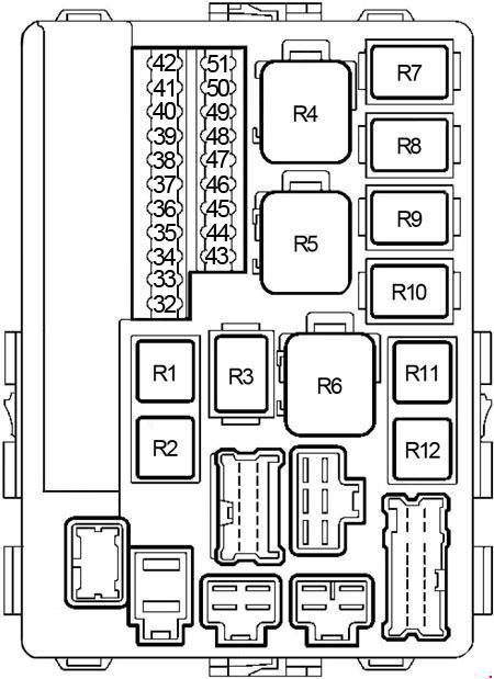 '02-'06 Nissan Altima Fuse Box Diagram