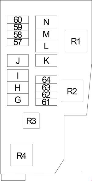 '13-'18 Nissan Altima Fuse Box Diagram