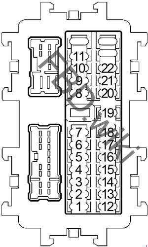 '04-'09 Nissan Quest (V42) Fuse Box Diagram