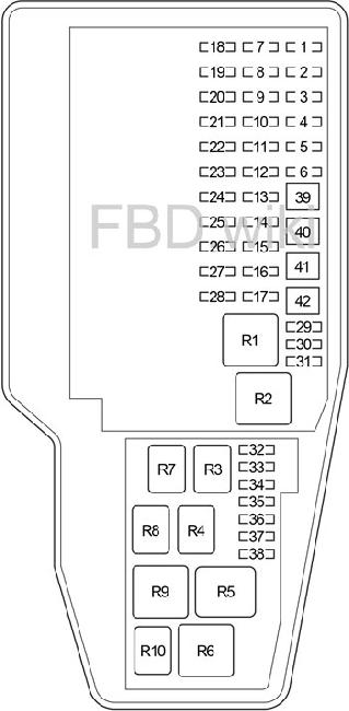 '07-'12 Lexus LS460 Fuse Box Diagram