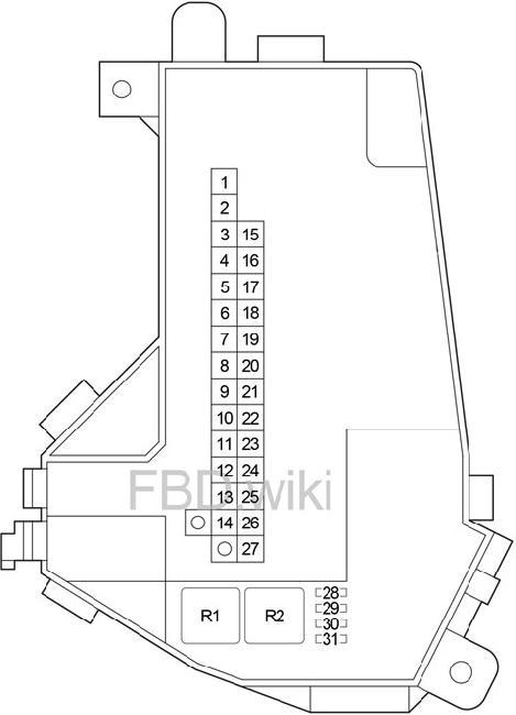 2007-2012 Lexus LS 460 Fuse Box Diagram » Fuse Diagram