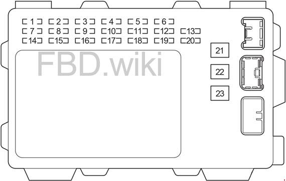 '03-'08 Toyota Corolla (USA) Fuse Box Diagram