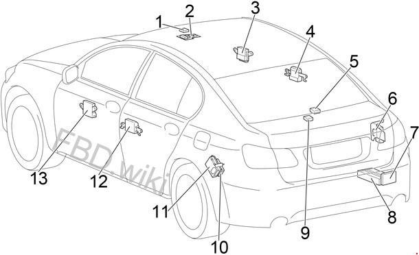 '05-'11 Lexus GS 300, 430, 460 Fuse Box Diagram