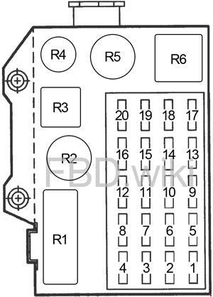 1991-1996 Dodge Dakota Fuse Box Diagram » Fuse Diagram