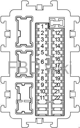 '11-'18 Infiniti M37, M56, Q70, M35h Fuse Box Diagram