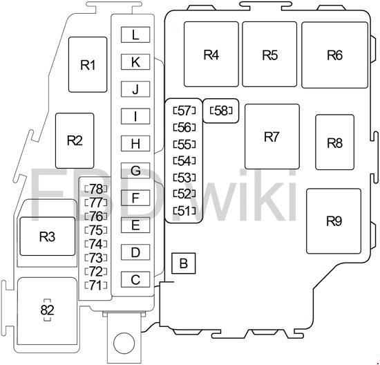 2003-2004 Infiniti M45 (Y34) Fuse Box Diagram