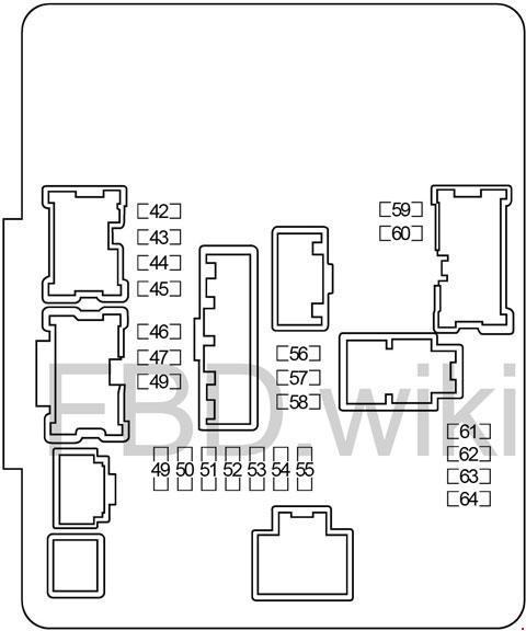 Infiniti Q50 & Q60 (2013-2015) Fuse Box Diagram