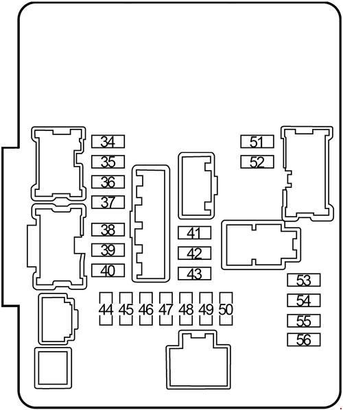 Infiniti JX35 & QX60 (2012-2017) Fuse Box Diagram