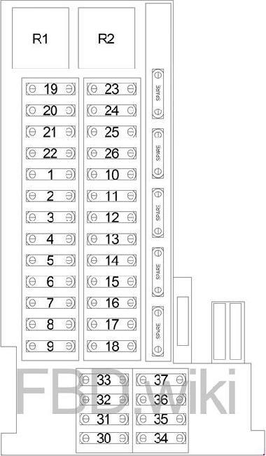 '04-'08 Chrysler Crossfire Fuse Box Diagram