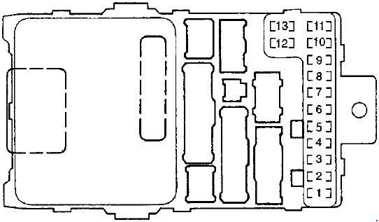 '97-'02 Honda Accord Fuse Diagram