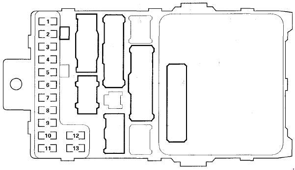 '03-'08 Honda Pilot Fuse Box Diagram