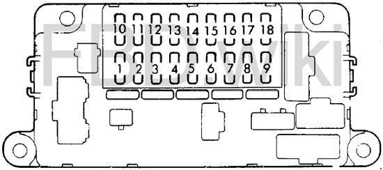 1982-1987 Honda Prelude 2 Fuse Box Diagram