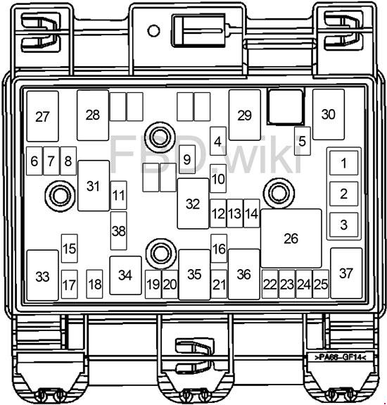 2008-2012 Chevrolet Malibu Fuse Box Diagram