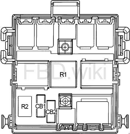 '03-'09 Hummer H2 Fuse Box Diagram