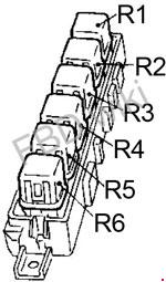 '90-'94 Nissan Sentra (B13) Fuse Box Diagram