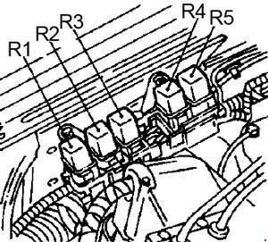 '96-'98 Nissan Quest Fuse Box Diagram