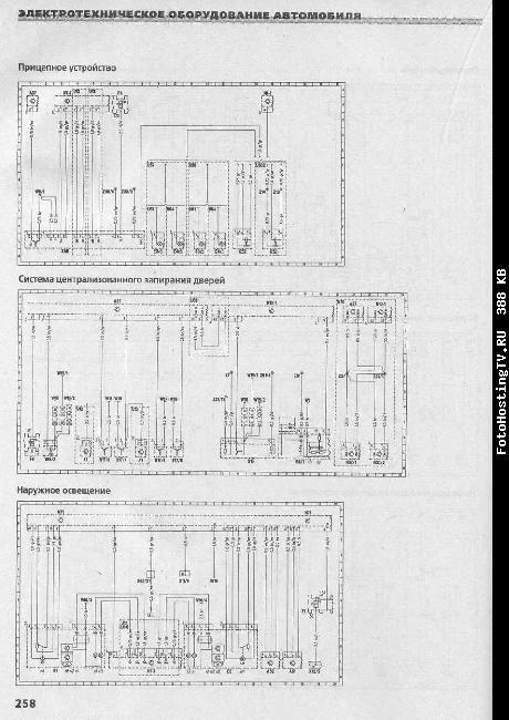 Схемы электрооборудования MERCEDES-BENZ E Класс (W 210