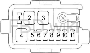 '06-'14 Honda Ridgeline Fuse Box Diagram