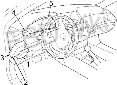 '10-'15 Honda Crosstour Fuse Box Diagram